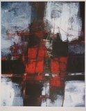 Joop Birker - Haven van Valencia - 105,5 x 74,5 cm - Zeefdruk op papier
