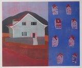 Henriette Boerendans - 31 maart 1997 - 70,5 x 80,5 cm - Houtsnede op papier - in aluminium lijst