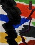Jan van Holthe - Nuage Noir - 24 x 19 cm - olieverf op doek