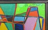 Jan van Holthe - Organisation vivante 1 - 27 x 52 cm - olieverf op paneel - in houten lijst