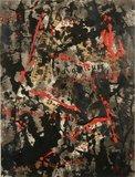 Jan van Holthe - Mei 1968 I - 87 x 68 cm - Acryl en collage op papier - in aluminium lijst