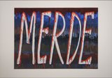 Jan van Holthe - Uit de Merde serie: Merde 18 - 54,5 x 74 cm - Acryl op papier