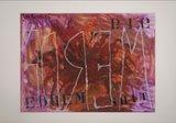 Jan van Holthe - Uit de Merde serie: Merde 16 - 54,5 x 74 cm - Acryl op papier