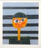 Meertje Kaal - zonder titel - 85 x 72,5 cm - Olieverf op papier - in donker groen houten lijst