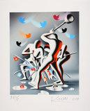 Mark Kostabi - Stream of Consciousness - 61 x 50 cm - Zeefdruk op zwaar handgemaakt papier