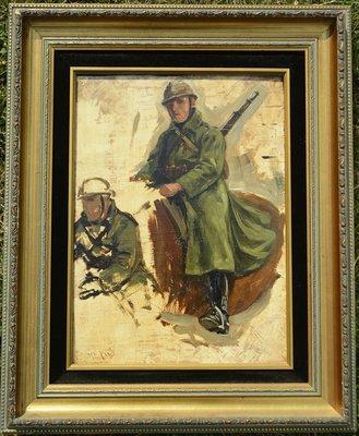 H.W. Koekkoek - Studiewerk Cavalerie ruiter