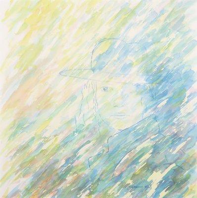 Silvo Boschman - Aquarel - 70x70cm - in passe-partout