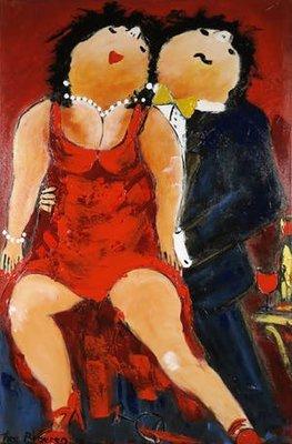 Theo Broeren - Dansles - 150 x 100 cm - acrylverf op doek