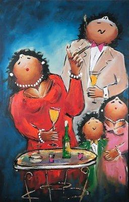 Theo Broeren - Limonade party - 200 x 130 cm - acrylverf op doek
