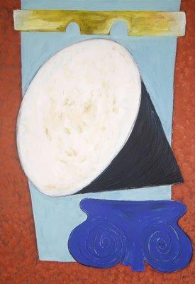Toes Dalmulder - zonder titel - Acryl op papier - 99,5 x 70 cm