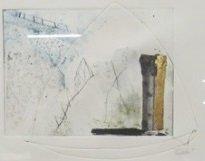 Peter Djelan - zonder titel II - 47 x 37 cm - gemengde techniek op papier - ingelijst