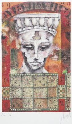 Astrid Engels - Casino - 64 x 48,5 cm - Litho op papier