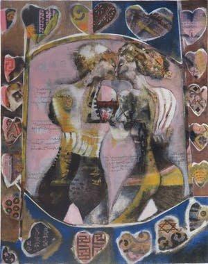 Astrid Engels - Heart's - 75 x 55 cm - Litho op papier