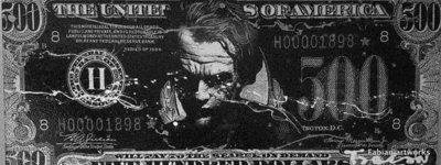 Fabian - The Joker - 160 cm x 60 cm - Gemengde techniek op doek