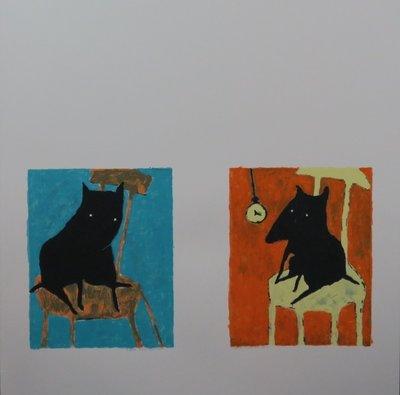 Peter Bastiaanssen - Hond (blauw en oker)