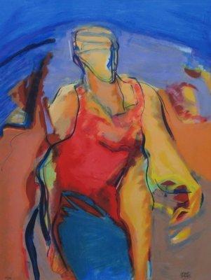Bernard Arthur - African Queen - zeefdruk - 98 x 78 cm - ingelijst