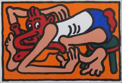 Hans Booy - Slangenmens - ingelijst