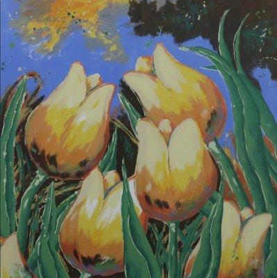 Roel Hofman - Tulpen IV - ingelijst