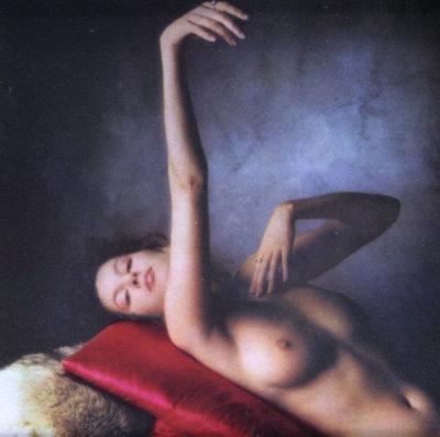 Paul Huf - Roze kussen - ingelijst