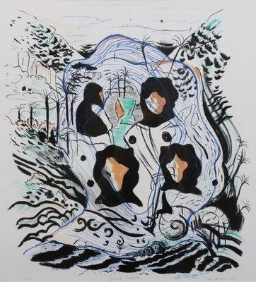Nour-Edinne Jarram - Pensees nomades - ingelijst