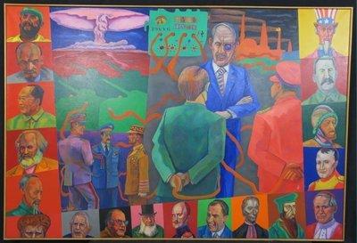 Jan van Holthe - Machthebbers - 132 x 192 cm - olieverf op doek