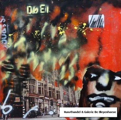 Herman Brood - Doei - 120x120cm - acryl op doek
