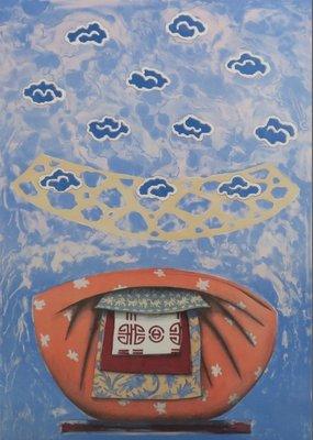 Lon Buttstedt - Himalaya Blues I - ingelijst