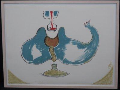 Ruud Dijkers - zonder titel (Blauw)  - ingelijst