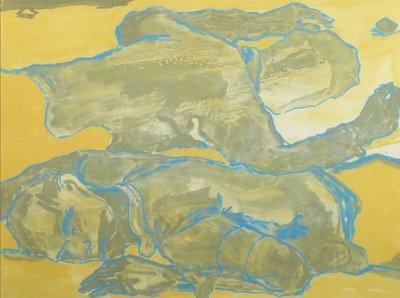 Koen Ebeling Koning - Twee figuren (goudkleurig) - ingelijst
