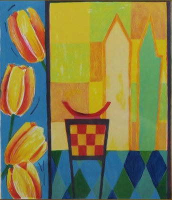 Fenneke van der Elst - Les Tulipes - ingelijst