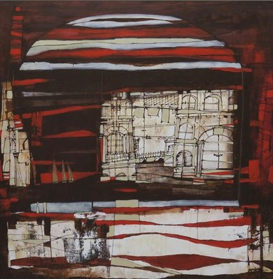 Carolina Paulussen - CP007 - 160 x 160 - acryl op doek - op spieraam met ophangsysteem