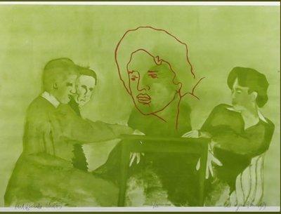 Ad Gerritsen - Artificiële Chaos (groen) - ingelijst