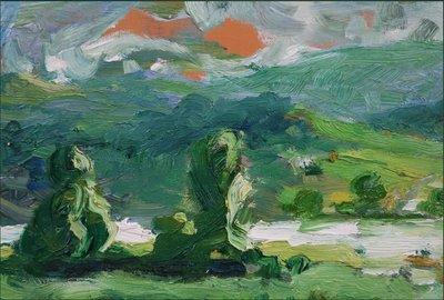 Henk Heideveld - Iers landschap - ingelijst