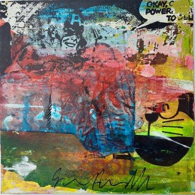 George Heidweiller - zonder titel III - 30 x 30 x 5 cm - acrylverf en gemengde techniek op linnen