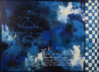 Carolina Paulussen - Movements - 110 x 150 - acryl op doek - op spieraam met ophangsysteem