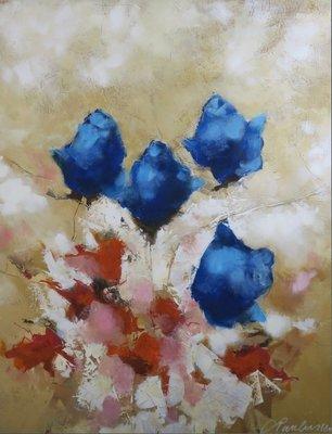 Carolina Paulussen - Rozen - 140 x 110 - acryl op doek - op spieraam met ophangsysteem
