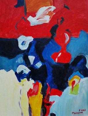 Piet Wiegman II - Turning Red - ingelijst