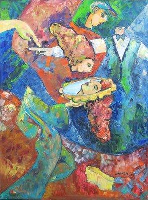 Franca Muller Jabusch - Spiegel - 80 x 60 cm - olieverf op doek