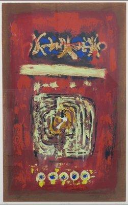 Hans van Horck - Labyrinth - 103 x 73 cm - Zeefdruk op papier - ingelijst