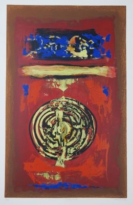 Hans van Horck - Labyrinth Rond- 92 x 60,5 cm - Zeefdruk op papier