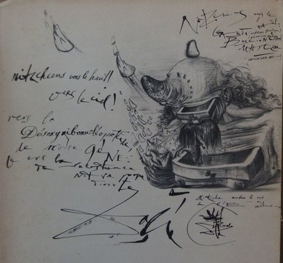 Salvador Dali - Knokke, Bureaucrat in the rhinoceros horn - 24 x 18cm - Catalogus