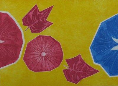 Godelieve van den Hamsvoort - Bloemen in de zon - ingelijst