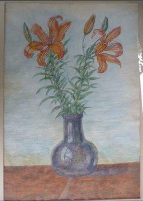 Antoinette Hoytema - Bloemen in vaas - ingelijst