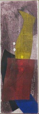 Duck Sung Kang - zonder titel I - kleurenets op papier - 94 x 48 cm - ingelijst