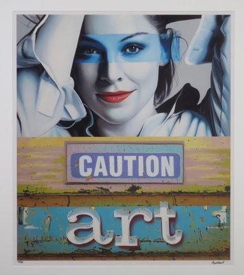 Jan Bollaert - Caution Art - Lambdaprint op papier - 93 x 83 cm - ingelijst