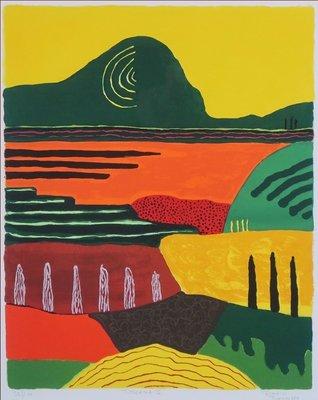 Ronald Boonacker - Toscana II - 80,5 x 67,5 cm - Zeefdruk op papier - ingelijst