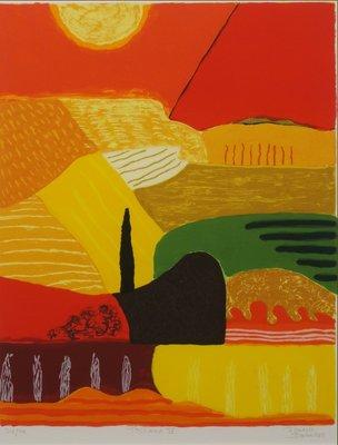 Ronald Boonacker - Toscana IV - 80 x 66,5 cm - Zeefdruk op papier - ingelijst