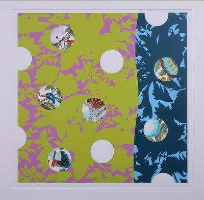 Arjen van Arendonk - Animals - 88 x 88 cm - Zeefdruk op papier - ingelijst