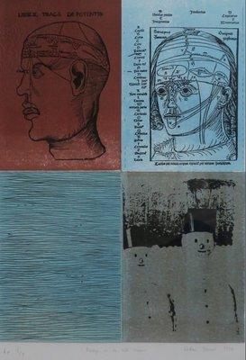 Kostana Banovic - Poeshpa en de rode sneeuw - 93,5 x 73 cm - Litho op papier - ingelijst