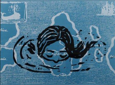 Karin Bos - Searching for Atlantis I - 82 x 100,5 cm - Litho op papier - ingelijst
